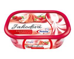 523206 Jahodová zmrzlina s jahodovým toppingem 9 x 900 ml
